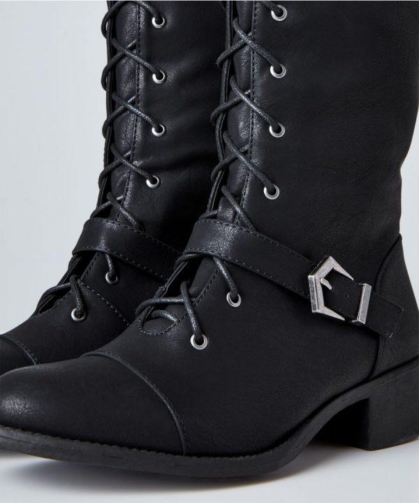 Sweet Talkin' Lace Up Boots