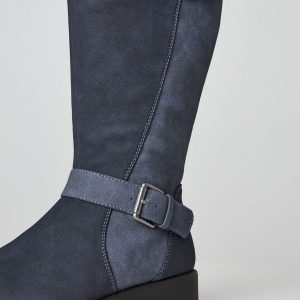 Happiness Buckle Wedge Boot