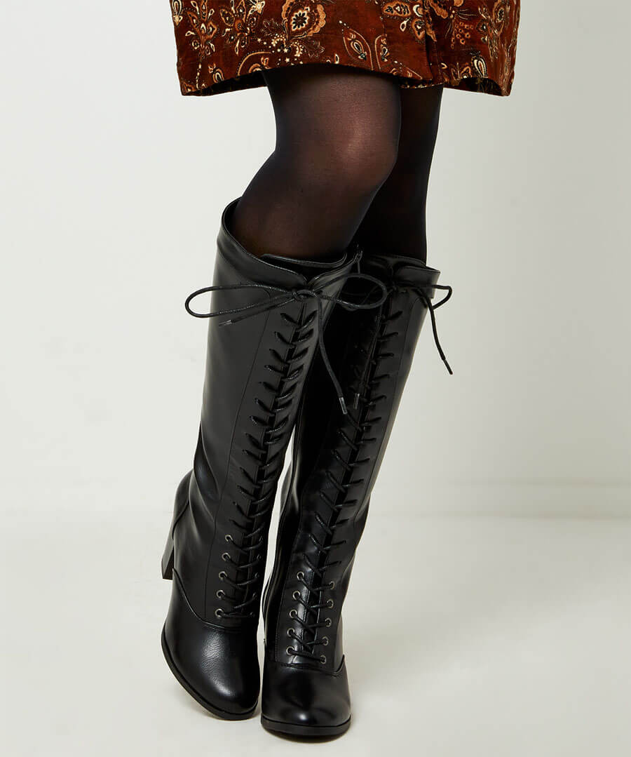 KB067B Joe Browns Move On Tall Lace Up Boots